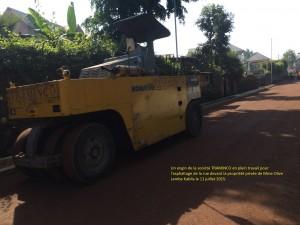 en plein contruction a cote de la clorture de la resdience de Olive LEMBE a Goma