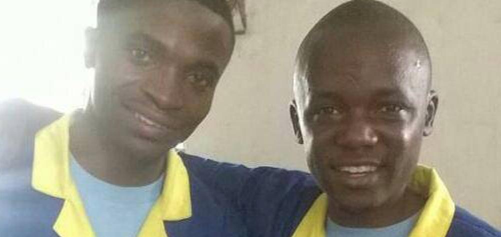 Pascal BYUMANINE et Juvin KOMBI pendant leur détention