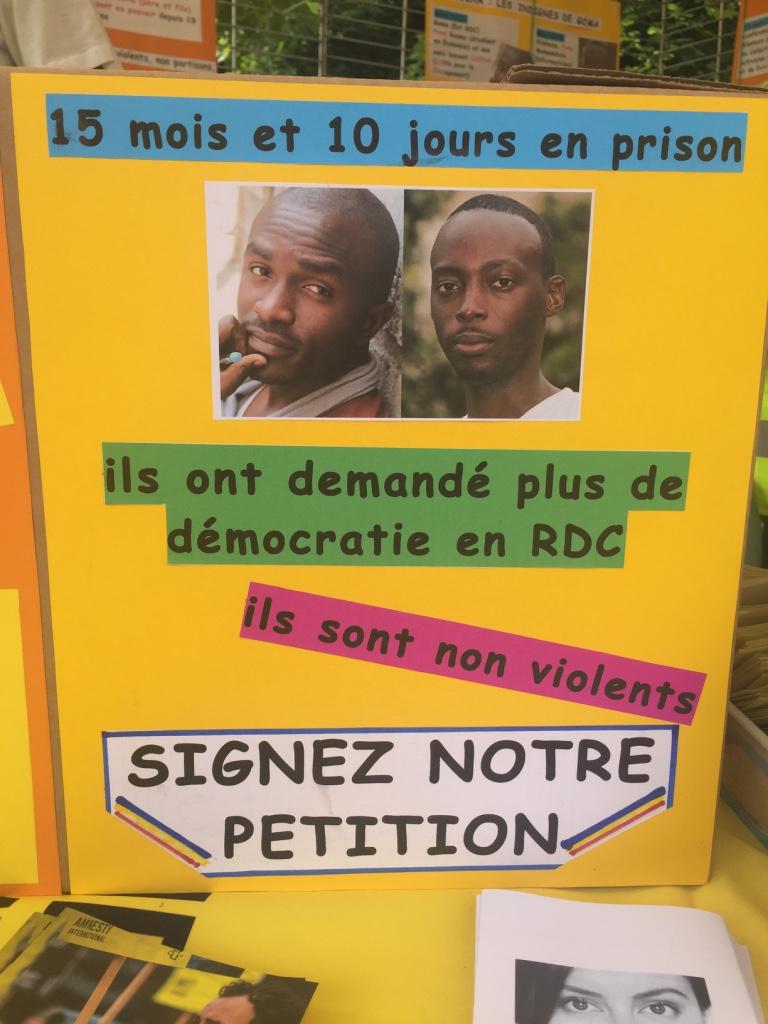 Affiche pour signer la PETITION pour Fred et Yves